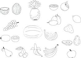 Fruit And Veg Coloring Sheets Vegetable Shapes Pages Veggie