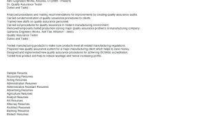 Quality Assurance Auditor Sample Resume Nfcnbarroom Com