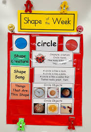 What Is Pocket Chart New Shape Of The Week Focus Wall Chart