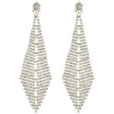 mood by jon richard crystal oversized chandelier earring