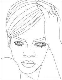 Rihanna Kleurplaat 6 Kleurplaat