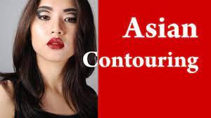 contouring asian face and cheeks makeup