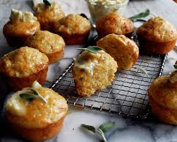Cheddar Apple Cornbread Muffins With Maple Sage Butter The