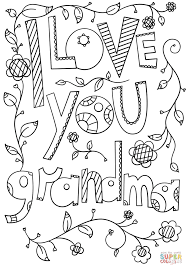 I Love You Grandma Doodle coloring page | Free Printable Coloring ...