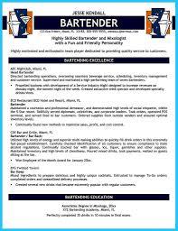 Unbelievable Head Bartender Resume Objective Job Description For