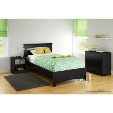 South Shore Libra Pure Black Twin Bed Frame-3870189 - The Home Depot
