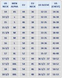 Size Chart Dress Shirt Men Size Charts Temptbrands