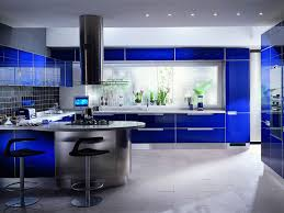 Interior Design Kitchen Blue Kitchen Interior Design Ideas With White Floor Kitchen