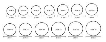 Core Active Silicone Rings Sizing Chart Silicone Wedding