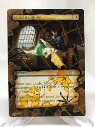 Chart A Course Mtg Magic Ixalan Hand Painted Altered Full