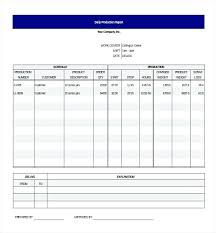 Production Reporting Templates Production Status Reporting Date Wise Daily Schedule Template Excel