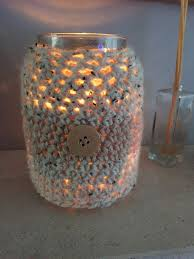 absolutely love this little candle cover only took me an hour or so to crochet