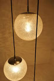 mid 20th century very large glass ball chandelier 1960s by putzler for