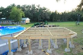 Onground Pool Decks Above Ground Pool Deck Build Above Ground Oval