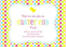 Easter Egg Hunt Lamb Chick Bunny Invitation