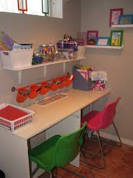 white kids desk
