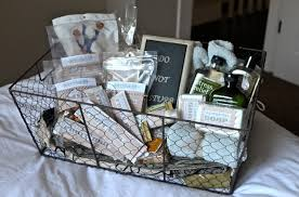 a few years ago martha you know my good friend martha stewart introduced me to the idea of guest baskets now i love nothing more than being a great