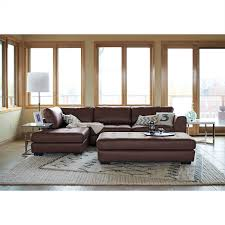 Furniture Leather Sectional With Chaise