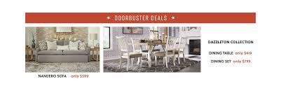 nandero sofa dazzelton dining table dazzelton dining set