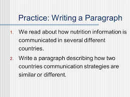 compare contrast essays norm johnson spring ppt  practice writing a paragraph 1