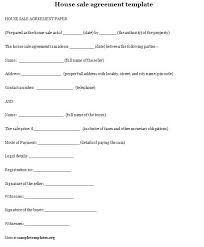 House Contract Form Home Sale Agreement Template Sample Installment Free Sales