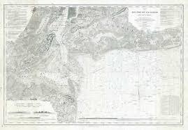 1920s U S Coast Survey Nautical Chart Or Maritime Map Of New York Bay Ebay