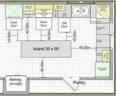 ... Magnificent Standard Kitchen Island Size Single Wall Layout Idea ...