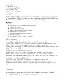 resume templates cleaning supervisor supervisor resume templates