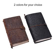 2019 Antique Travel Journal Notebook Diary Leather Bound Refillable
