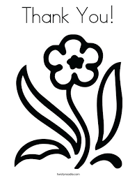 Thank You Coloring Page Pages Online To Print