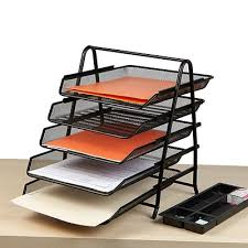 desk paper tray. Exellent Desk Mind Reader 5 Tier Steel Mesh Paper Tray Desk Organizer Black 5TPAPERBLK Throughout E