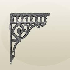 cast iron brackets wall shelf