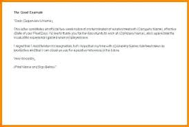 Sample Resignation Letter 2 Week Notice Two Weeks Perfect Like Of