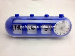 flip date retro alarm clock with calendar date table clock table alarm clock