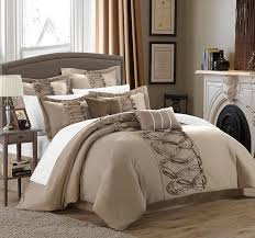 king size comforters on sale.  King Amazoncom Chic Home 8Piece Ruth Ruffled Comforter Set King Taupe  U0026 Kitchen In King Size Comforters On Sale P