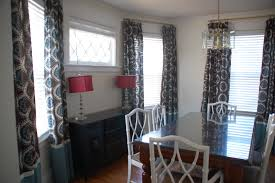 Dining Room Curtain Flowery Dining Room Curtains With Black Gold Rail Speedchicblog