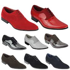 details about mens suede patent shiny leather line formal oxford lace up italian style shoes