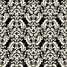 black and white vintage floral wallpaper.  White Seamless Black And White Floral Retro Wallpaper  Damask Background Vector  Image U2013 Artwork Of Click To Zoom To Black And White Vintage Floral Wallpaper C