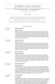 Sales Associates Resume Samples Visualcv Resume Samples Database