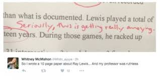 liberty university professor ruins w s ray lewis essay cbs   courtesy whitney mcmahon twitter via barstool