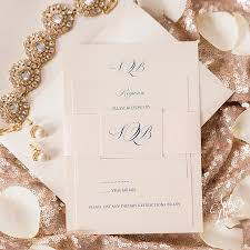 Sarah Brendan S Traditional Monogram Wedding Invitation Suite