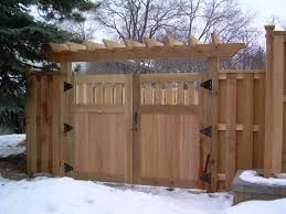 wood fence double gate. Fence Gates In St Paul, Lakeville, Woodbury, Twin Cities, Cottage Grove \u0026 Minneapolis, (MN) - Dakota Unlimited Wood Double Gate W