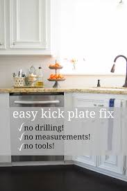 Cabinet Kick Plate The Easiest Diy Dishwasher Kick Plate Once Again My Dear Irene