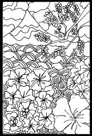 Small Picture Japanese Art Coloring Pages Printable Coloring Pinterest