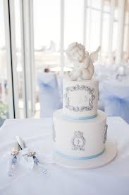 Karas Party Ideas White Blue Christening Celebration Karas