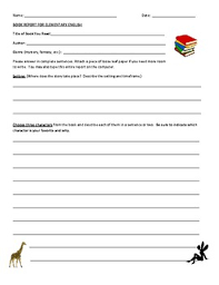 Free Book Report Templates Free Book Report Template Elementary Grades By Lessons By Laurel
