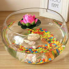 bowl lotus flower pots round glass vase clear glass vase hydroponic goldfish bowl water lily flower
