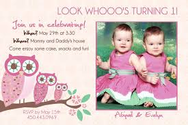 twins 1st birthday invitation