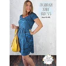 Knit Dress Pattern Interesting Sew To Grow Meridan Knit Dress Sewing Pattern Girl Charlee