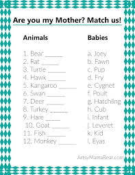 Animal Matching Baby Shower Game (+Free Printable | Party ideas ...
